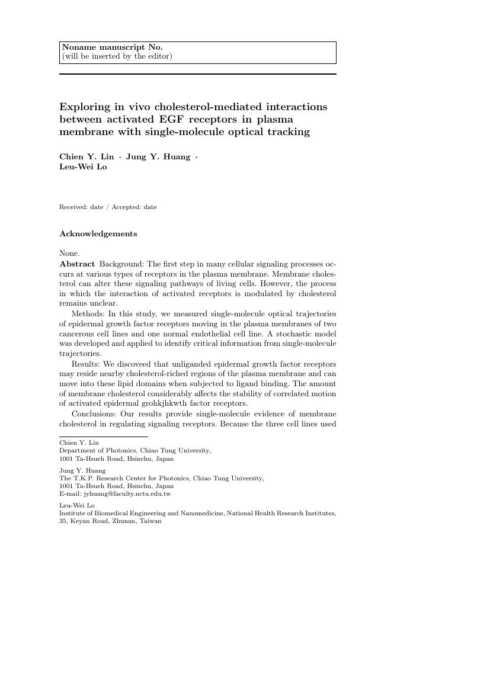 Springer - Acta Mechanica Template