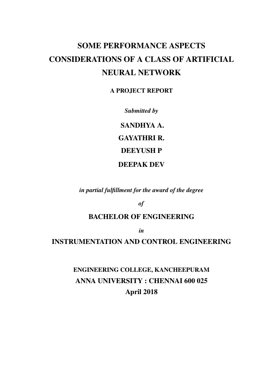 anna university chennai ug thesis format