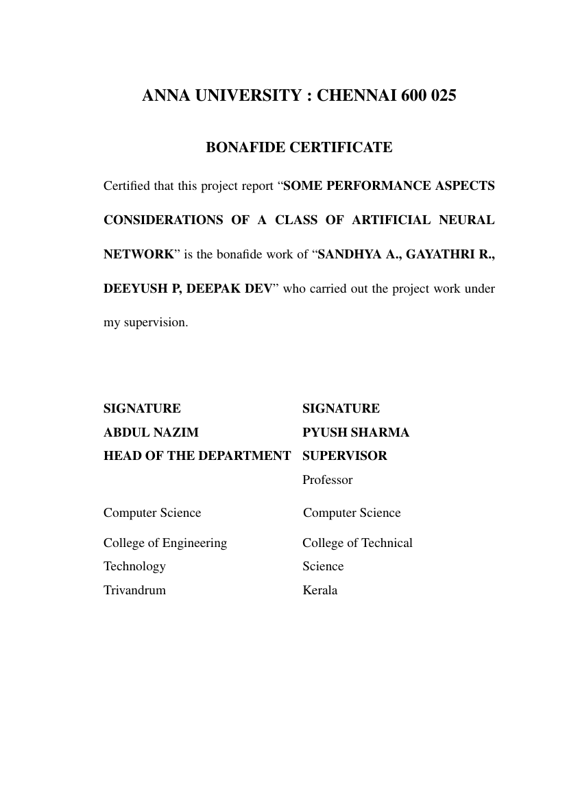 ... Example of UG Thesis Format for Anna University format ...