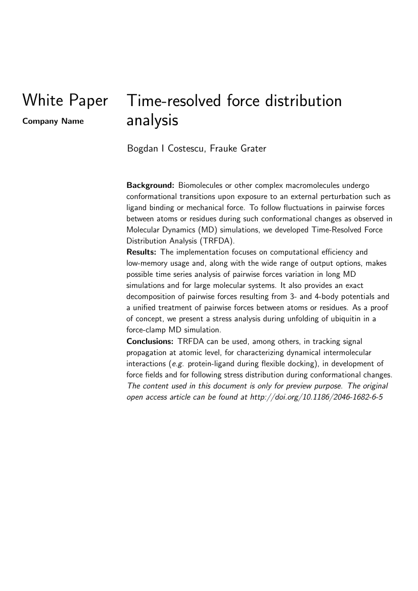 White Paper - White paper Custom template (Intel style) Template