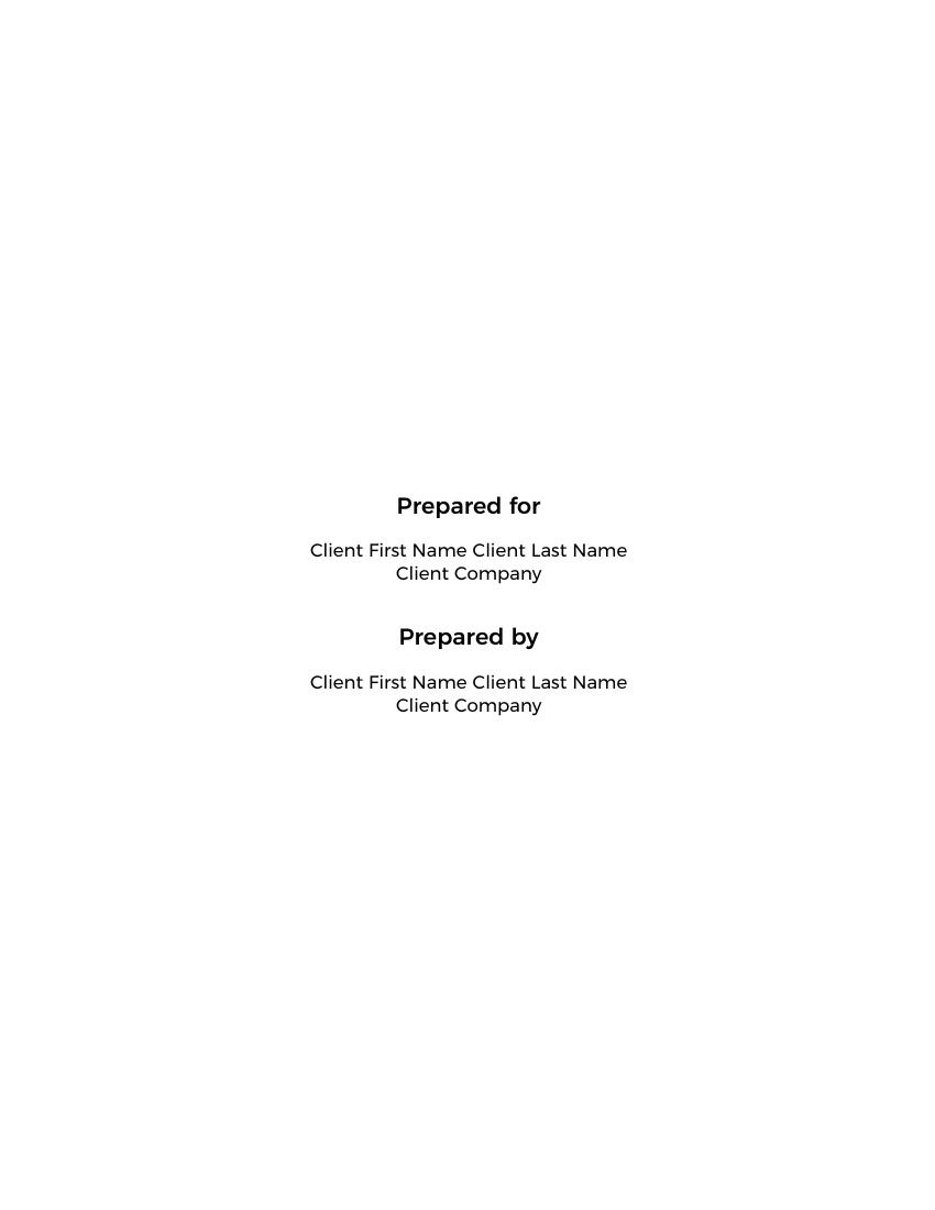 Proposals Software Development Proposal Template