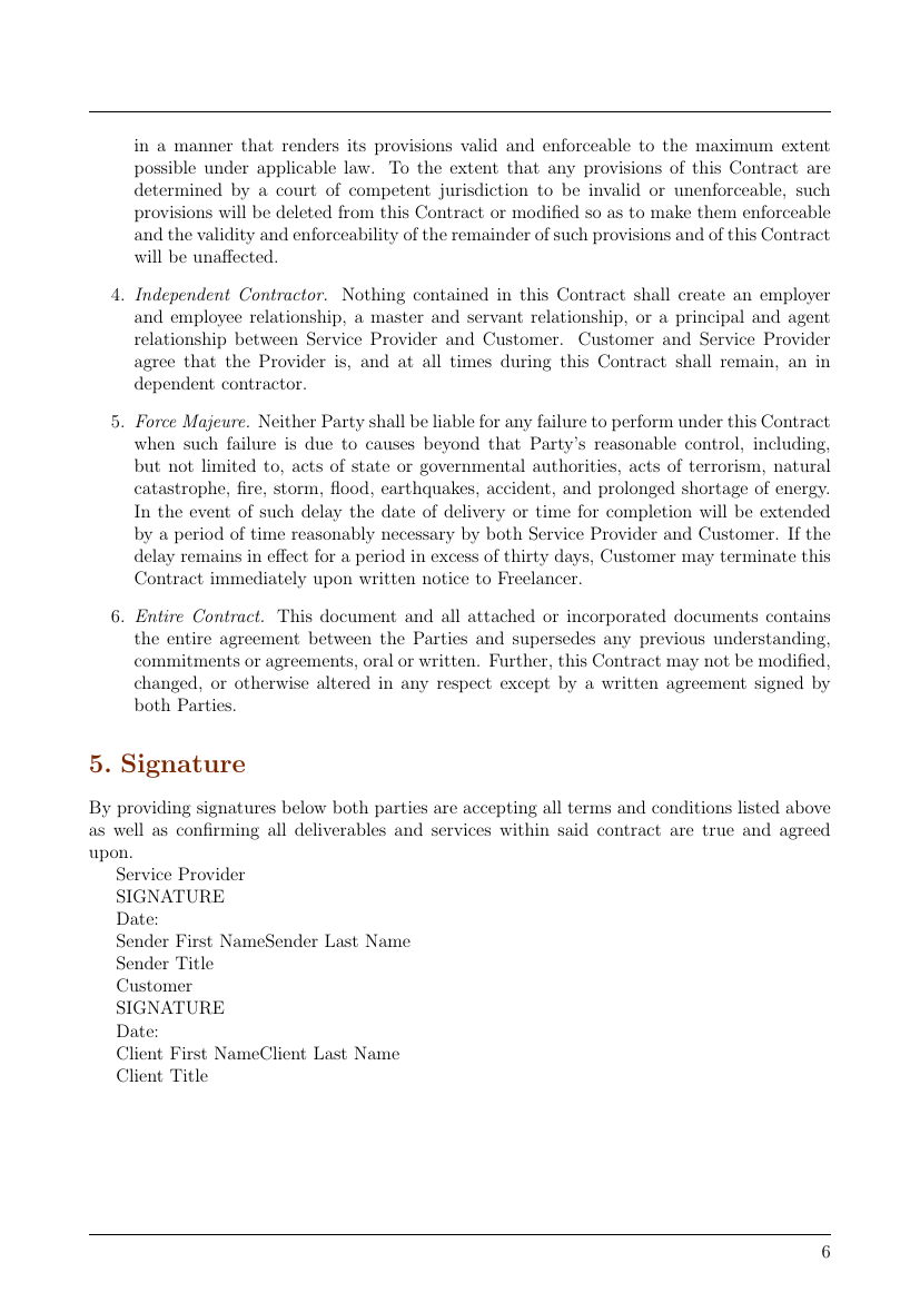 Contracts Outsourcing Services Contract Template Template