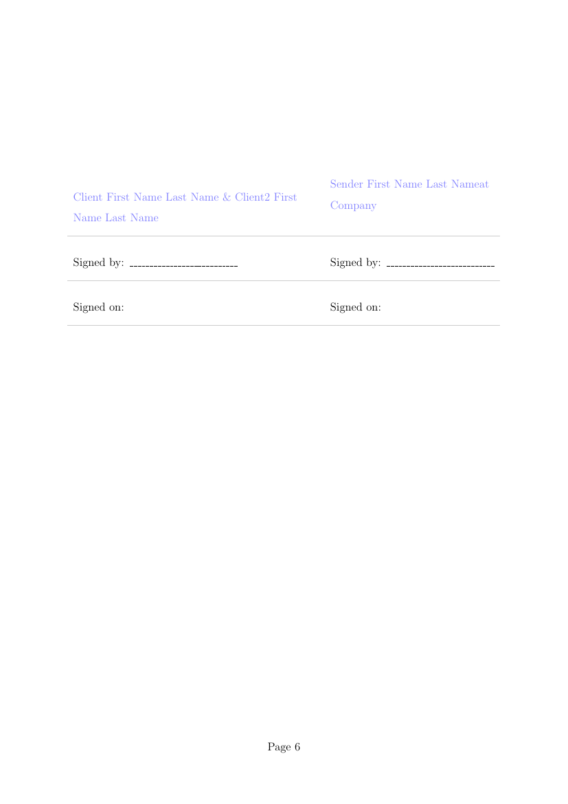 Example of Wedding Planning Proposal Template format