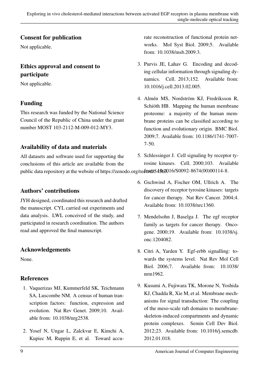Example of International Journal of Aesthetic Medicine format