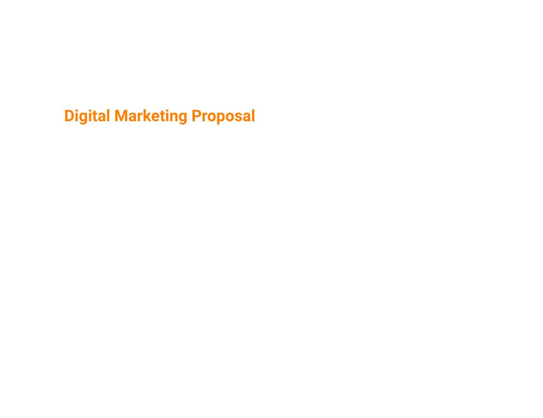 Proposals Digital Marketing Proposal Template
