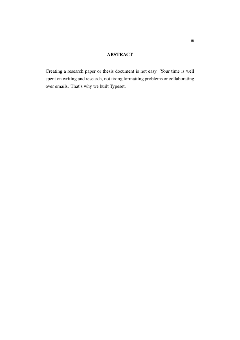 Example of Format for Universiti Tun Hussein Onn Malaysia (UTHM) Thesis format