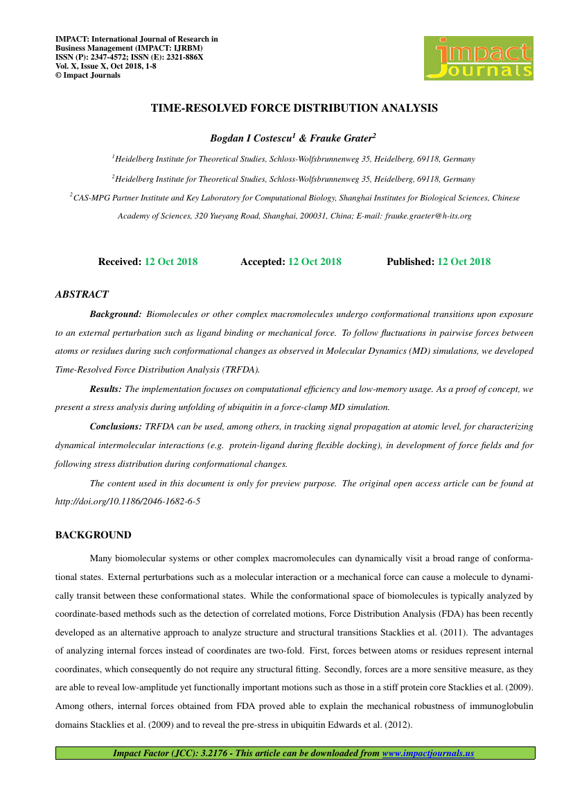 Example of IMPACT: International Journal of Research in Business Management (IMPACT: IJRBM) format