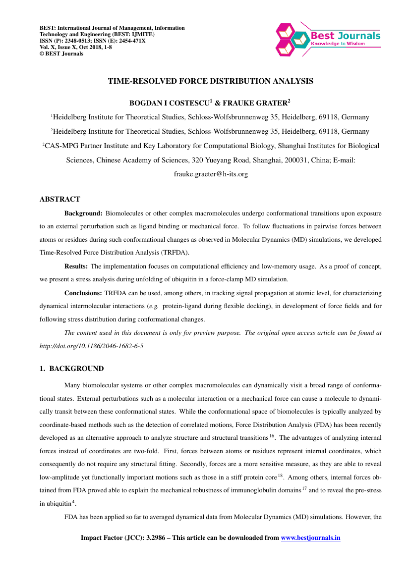 Example of BEST : International Journal of Management, Information Technology and Engineering (BEST: IJMITE) format