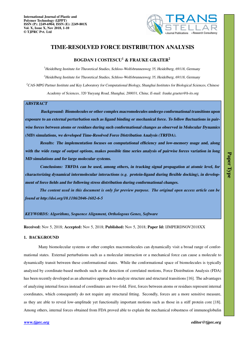 Example of International Journal of Plastic and Polymer Technology (IJPPT) format