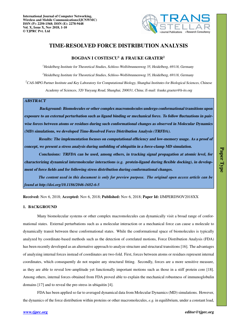 Example of International Journal of Computer Networking, Wireless and Mobile Communications (IJCNWMC) format