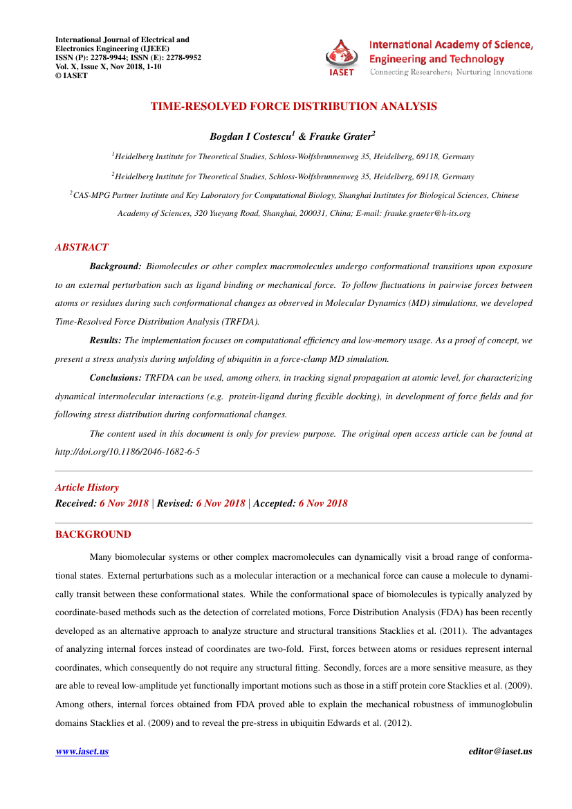 Example of International Journal of Electrical and Electronics Engineering (IJEEE) format