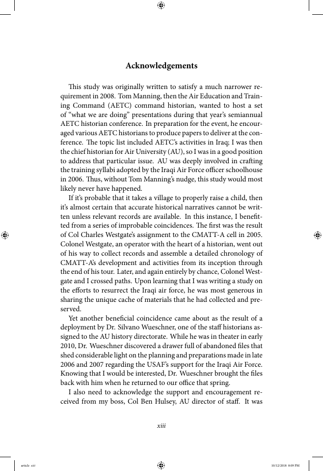 Example of Format for AIR University Book (Cully) format