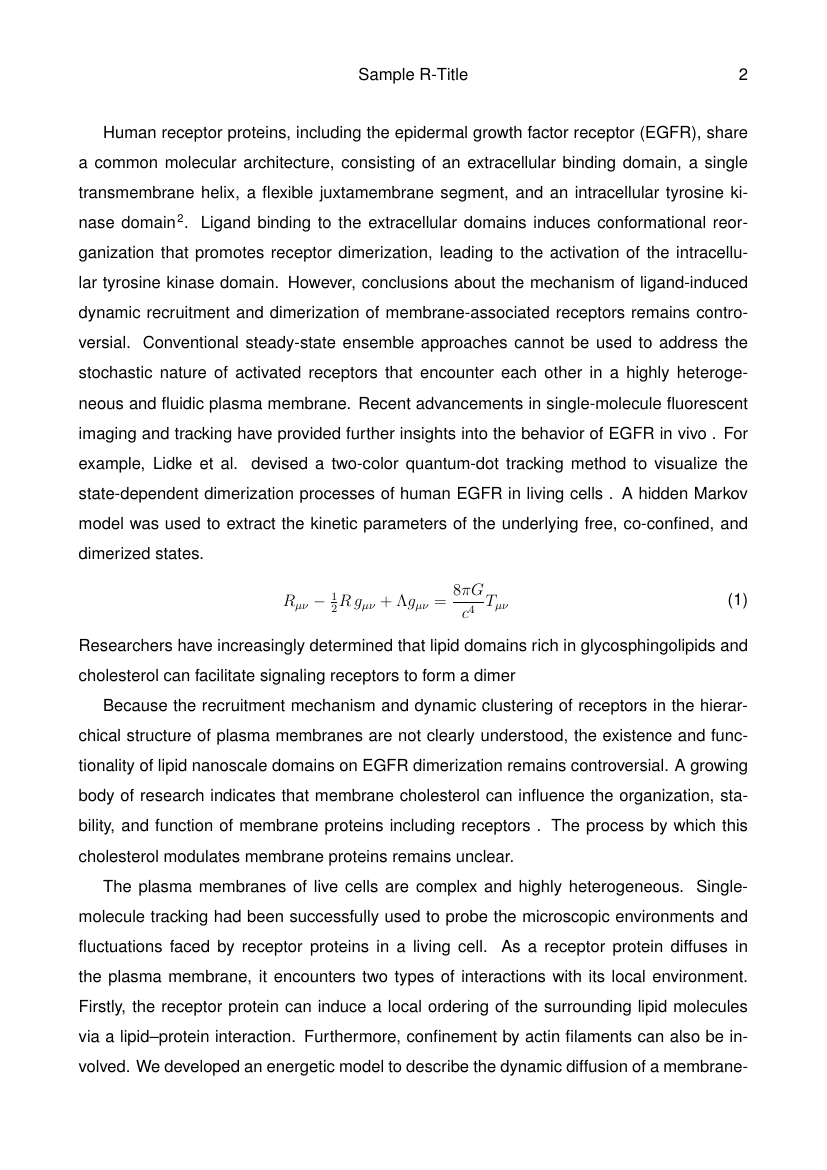 Example of Annals of Biomedical Engineering format