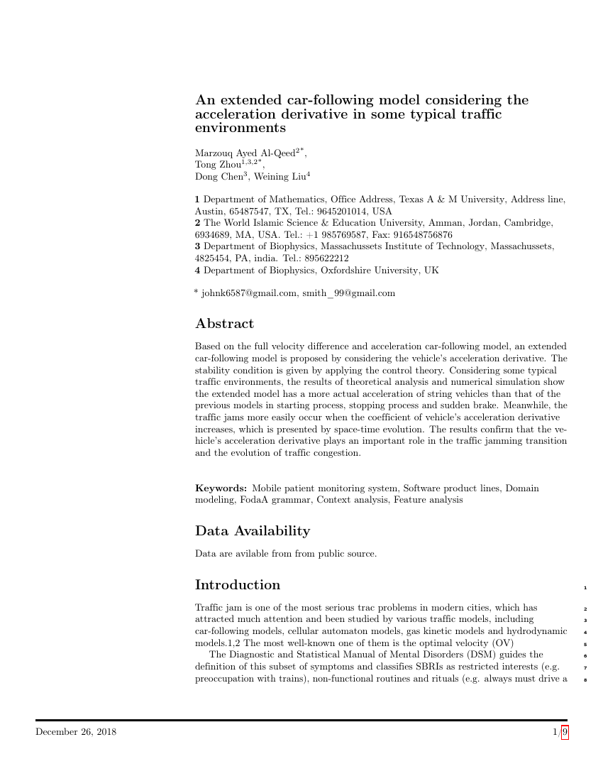 Example of PLOS ONE format