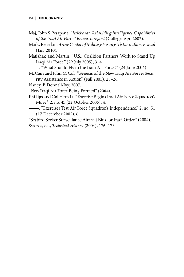 Example of Format for AIR University Book (DeGering) format