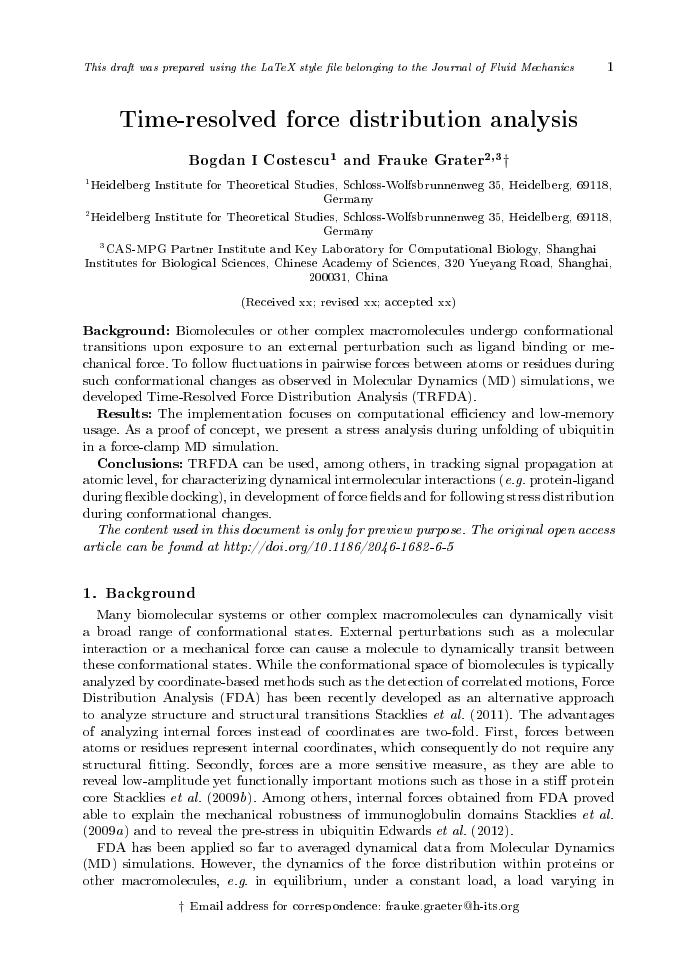 Example of Journal of Fluid Mechanics format