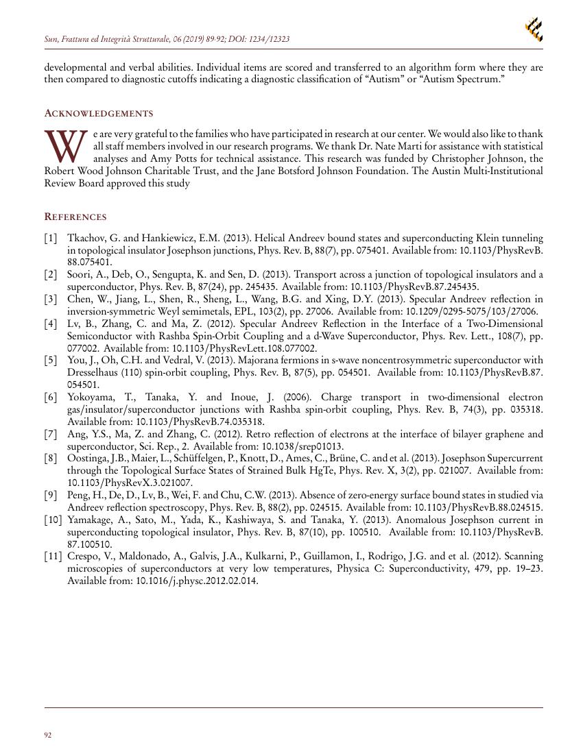 Example of Frattura ed Integrità Strutturale format