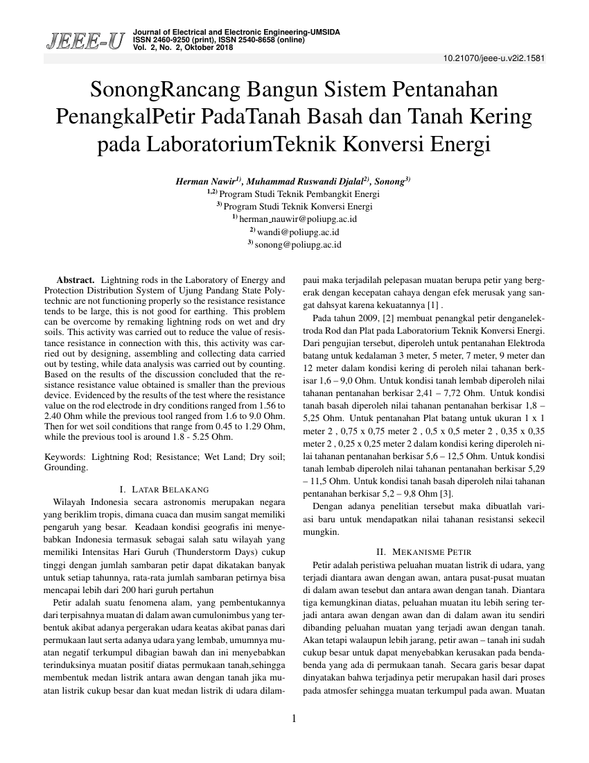 Example of Journal of Electrical and Electronic Engineering-UMSIDA (Indonesian) format