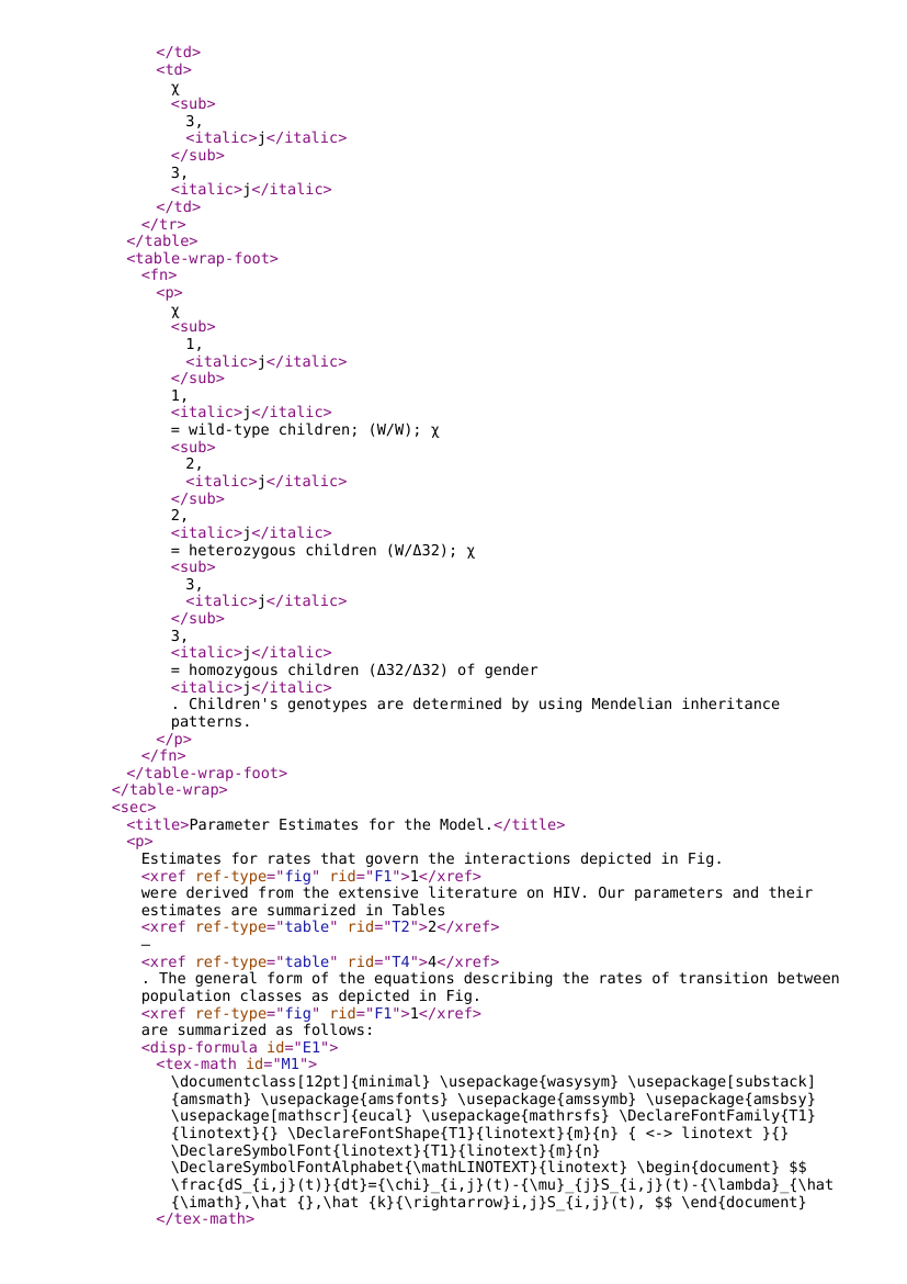 Example of NISO STS XML format