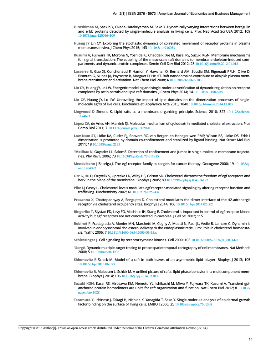 Example of American Journal of Economics and Business Management format