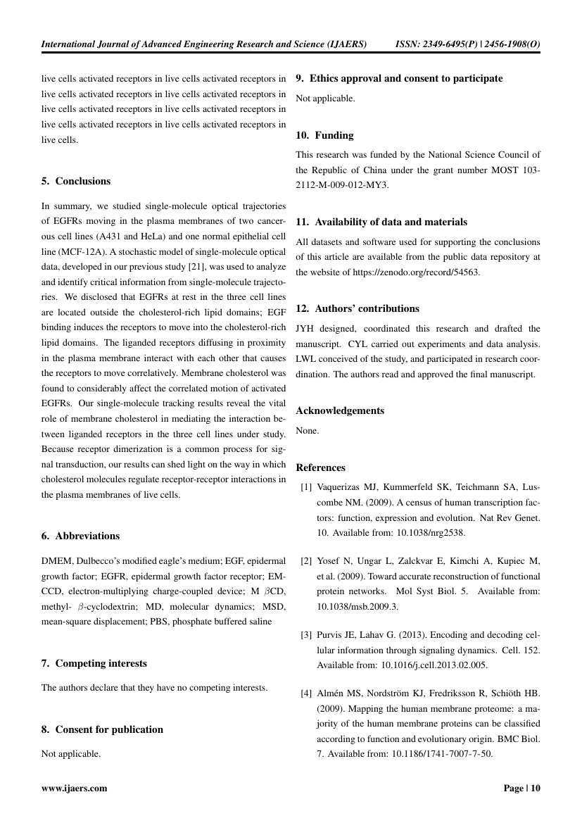 Example of International Journal of Advanced Engineering Research and Science (IJAERS) format