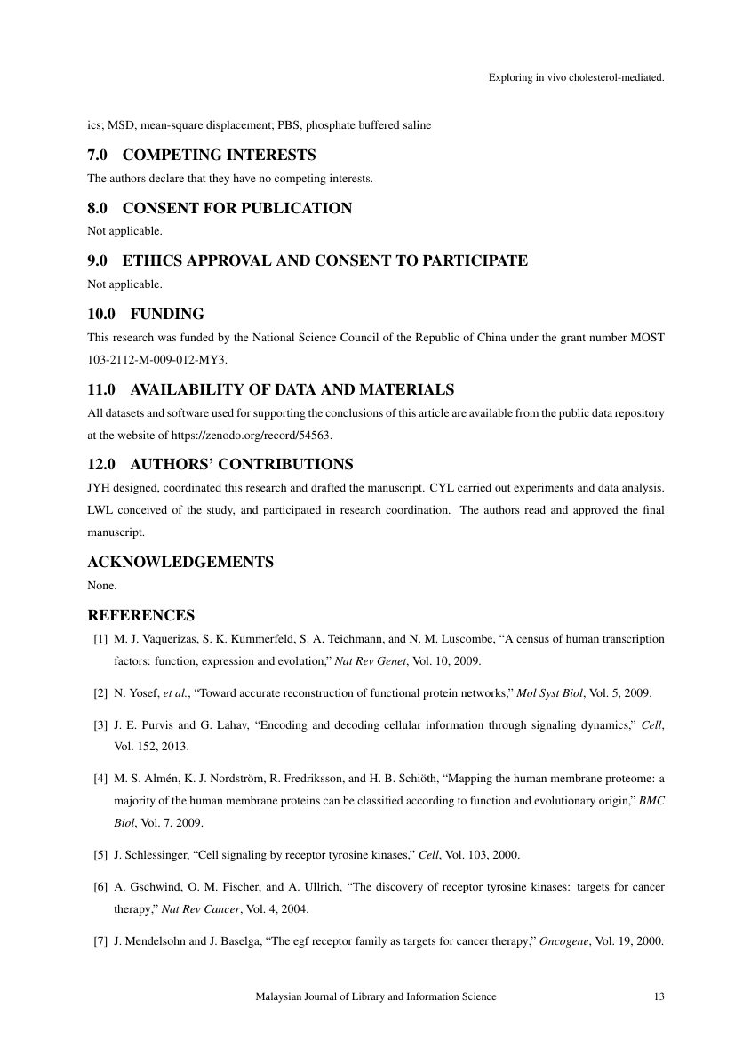 Example of Malaysian Journal of Library and Information Science format