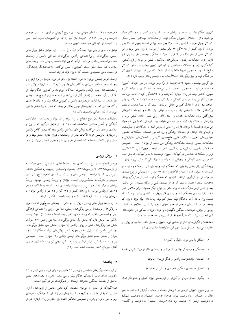 Example of Middle Eastern Journal of Disability Studies format