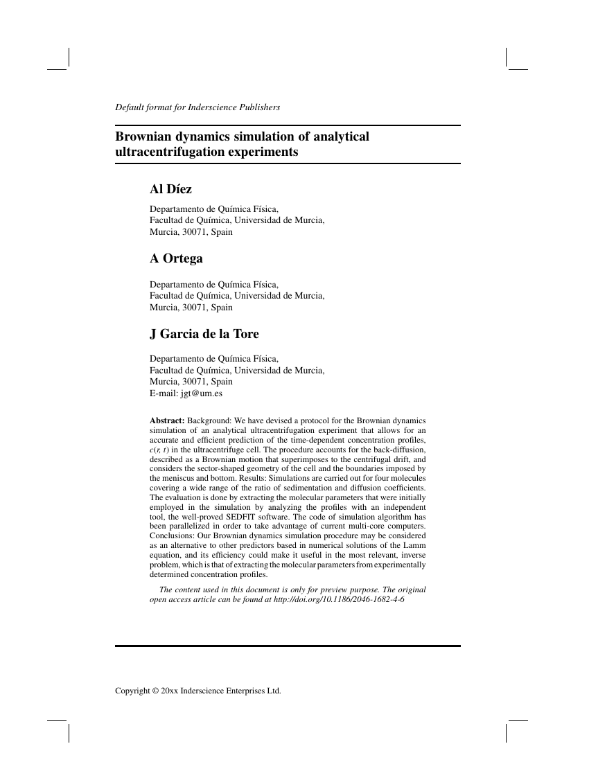 Example of International Journal of Services Sciences format