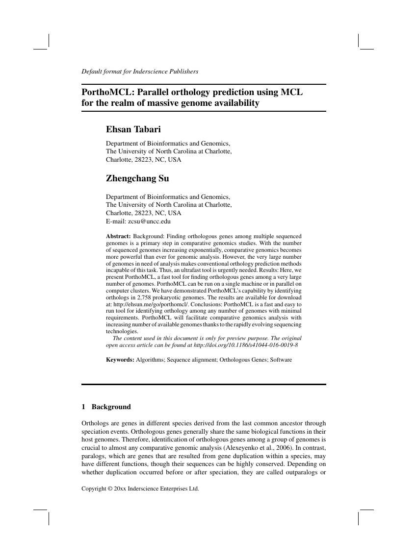 Example of International Journal of Nanotechnology format