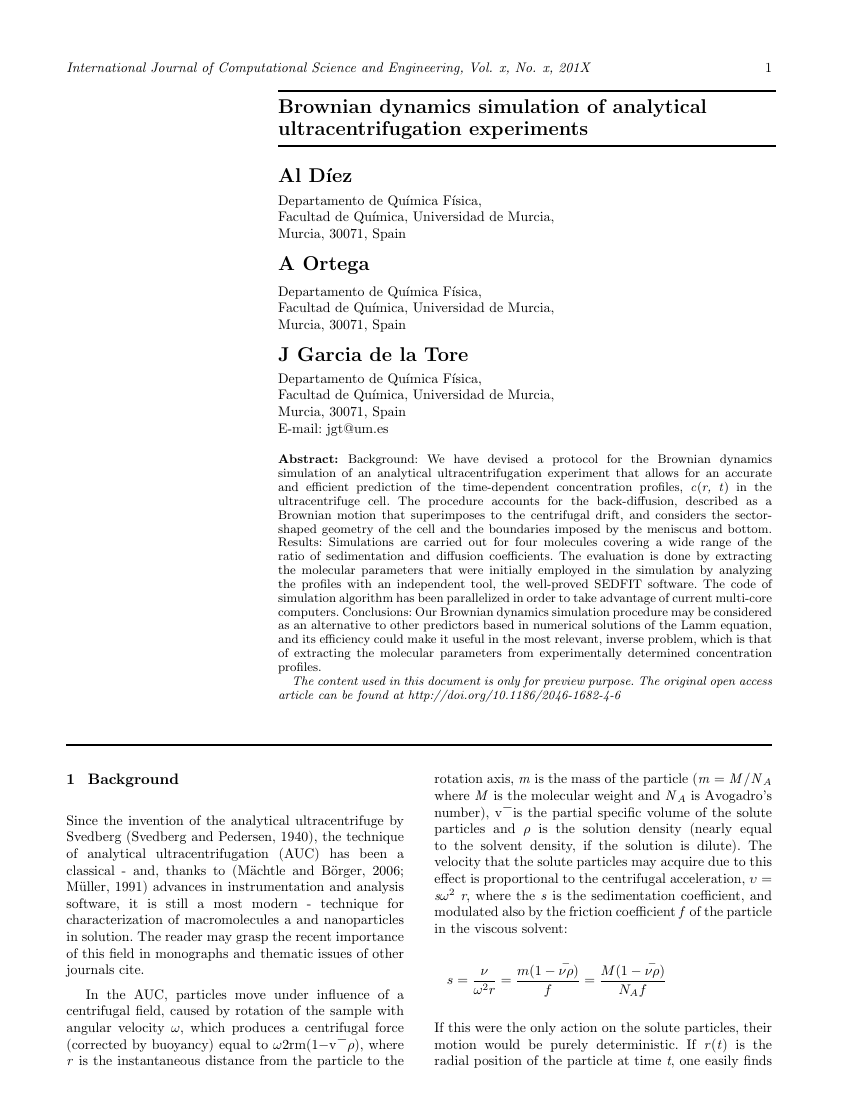 Example of International Journal of Computational Science and Engineering format
