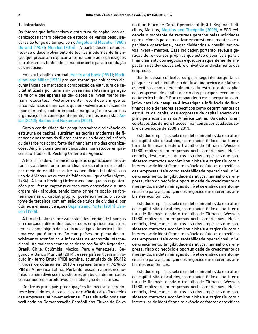 Example of Estudios Gerenciales format