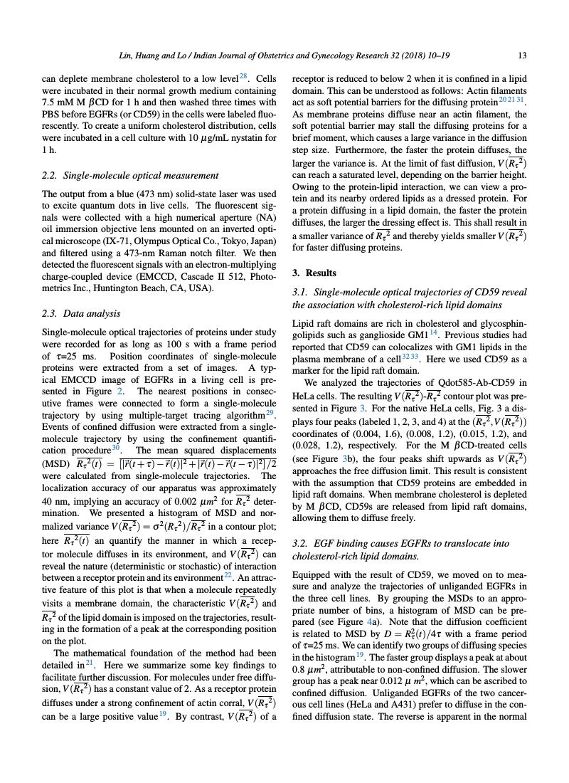 Example of Indian Journal of Obstetrics and Gynecology Research format