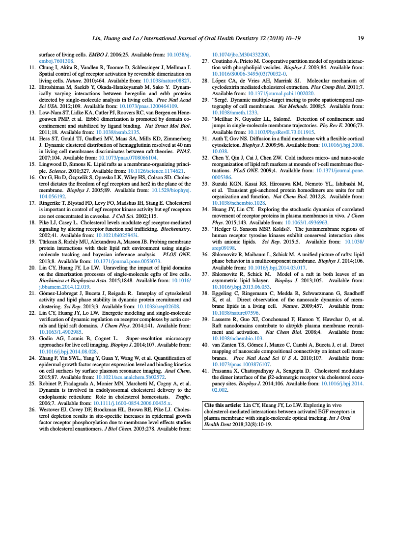 Example of International Journal of Oral Health Dentistry format