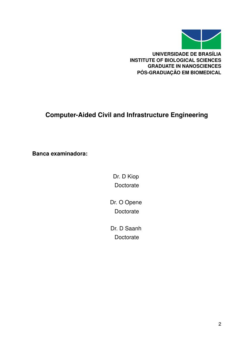 Example of University of Brasilia (UnB) Thesis format