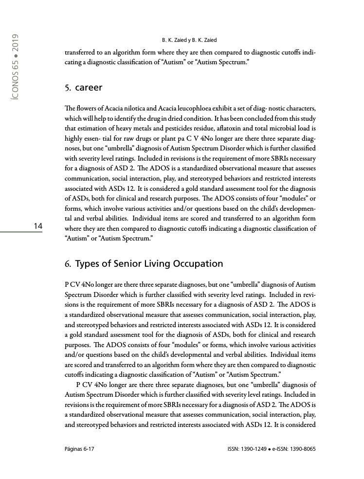 Example of Revista de Ciencias Sociales format