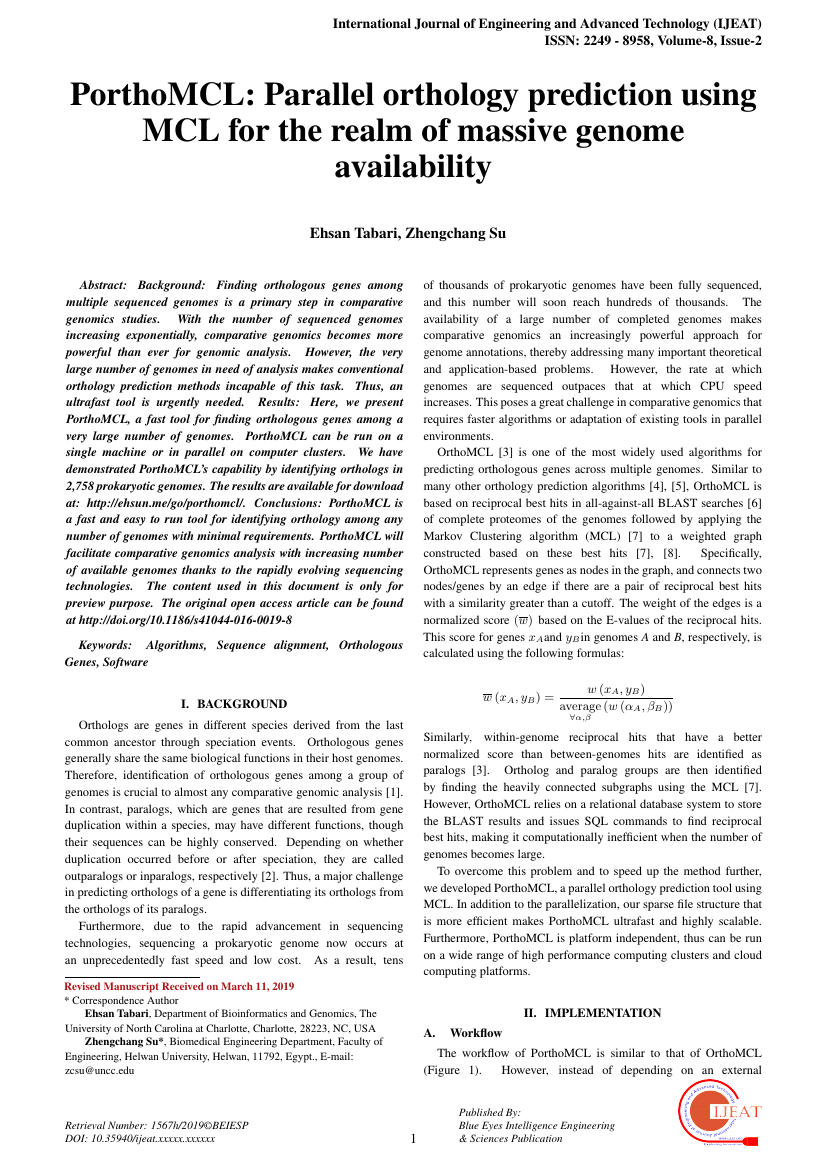 Example of International Journal of Engineering and Advanced Technology (IJEAT) format