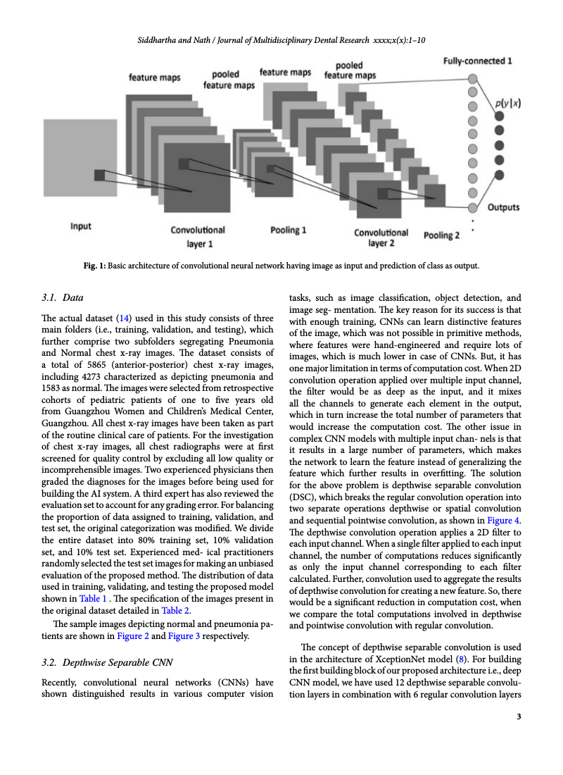 Example of Journal of Multidisciplinary Dental Research format