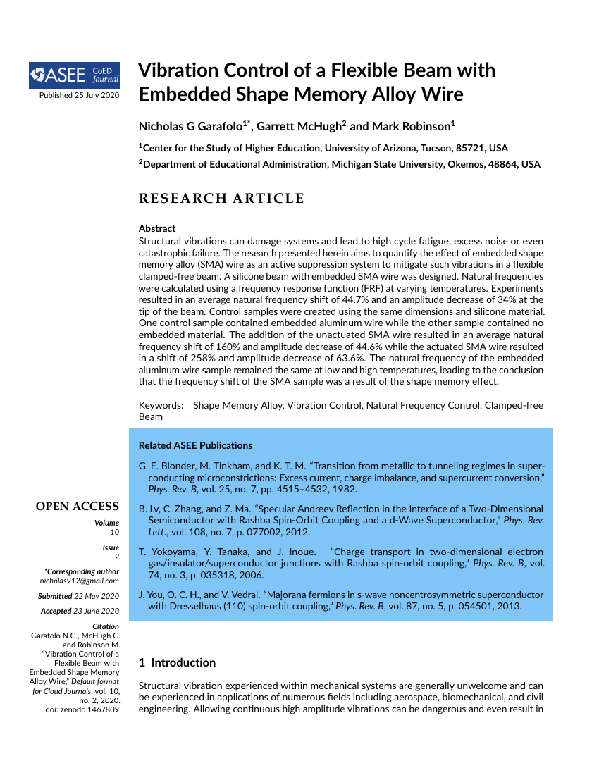 Example of Computers in Education Journal format