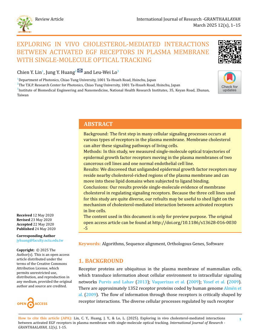 Example of International Journal of Research - GRANTHAALAYAH format