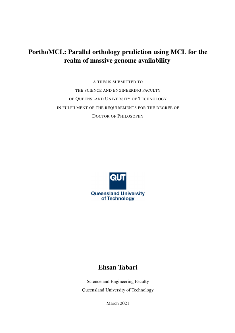 Example of QUT Thesis Template format