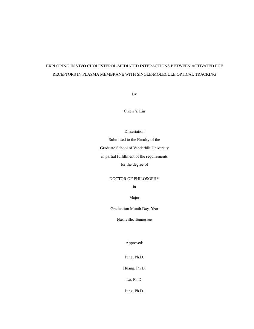Example of Vanderbilt University Dissertation format