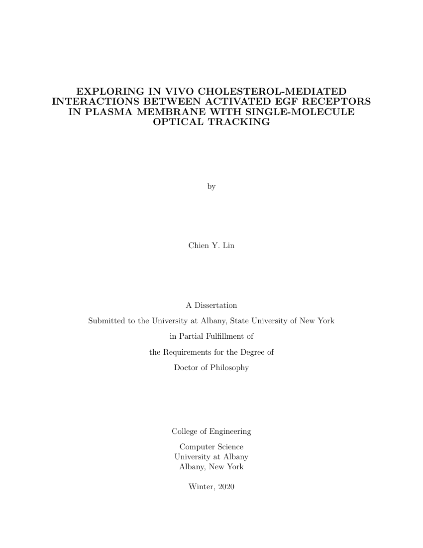 Example of University at Albany Thesis format