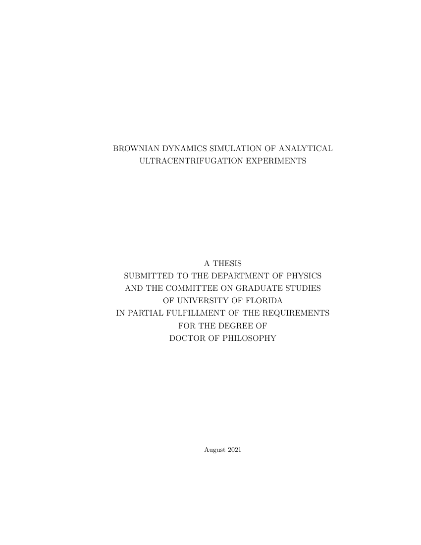 Example of Grove City College (GCC) Thesis format