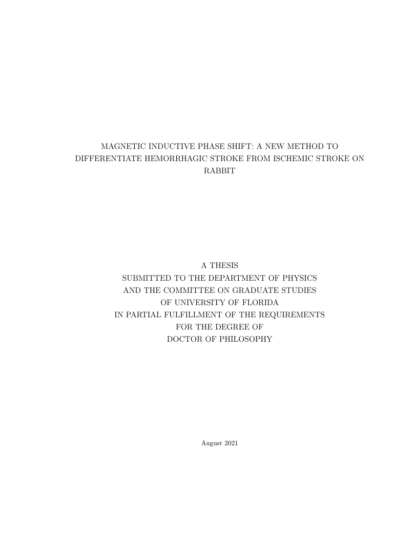 Example of Franklin College Thesis format