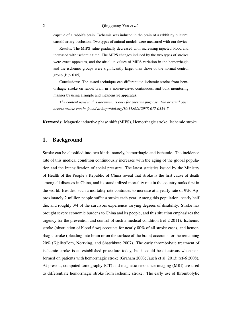 Example of Journal of Malaria Research format