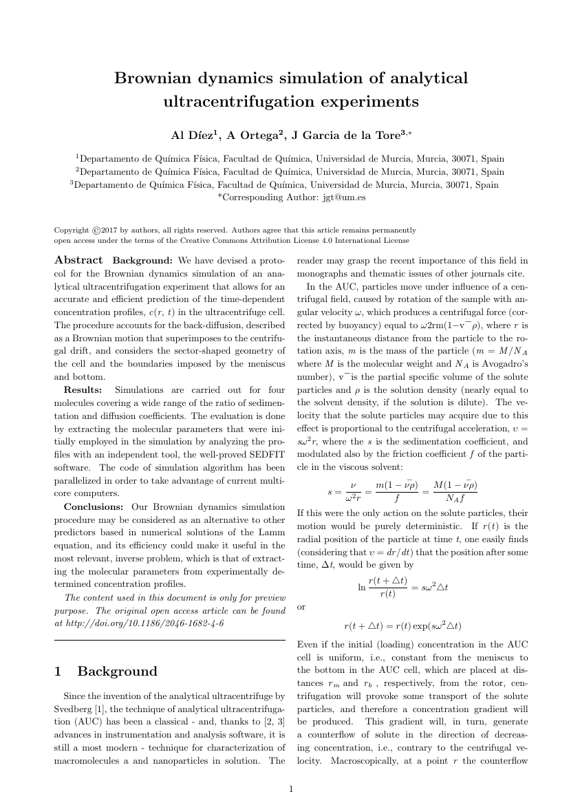 Example of Universal Journal of Physics and Application format