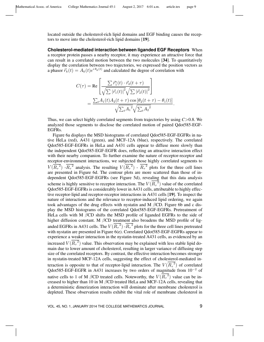 Example of College Mathematics Journal format
