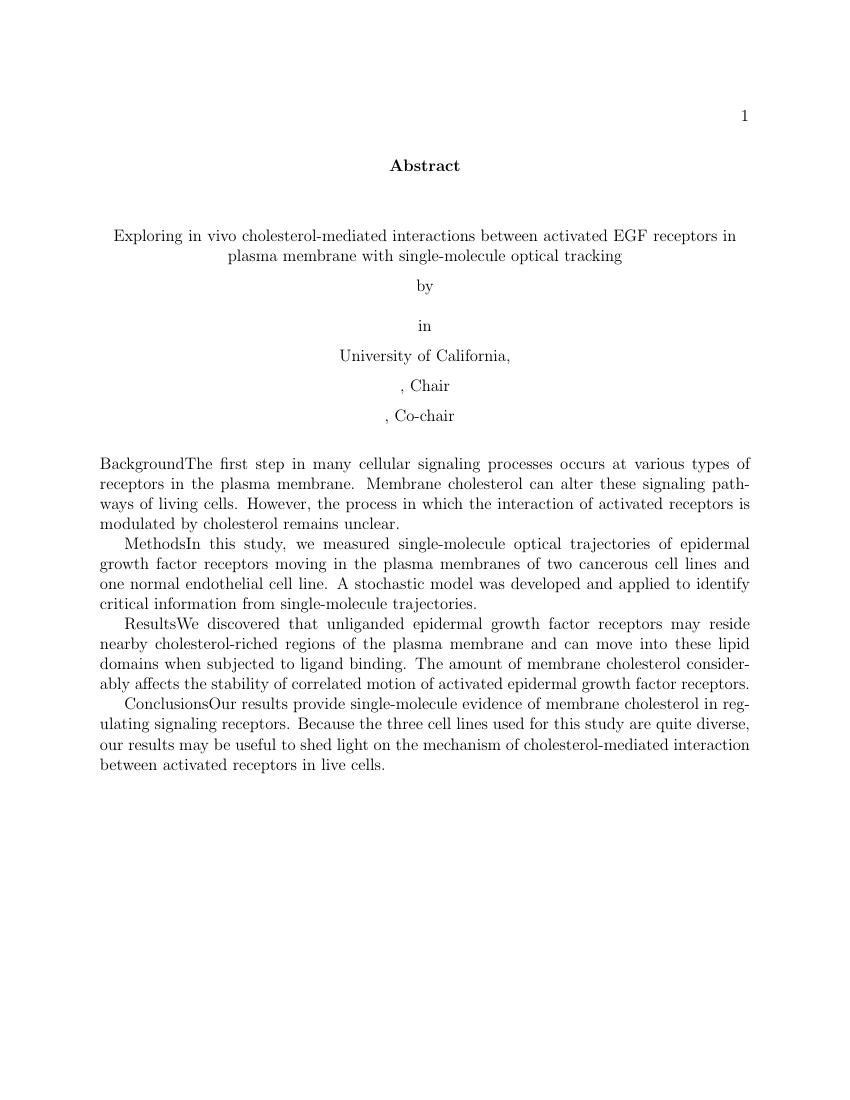 Dissertation proposal workshop uc berkeley