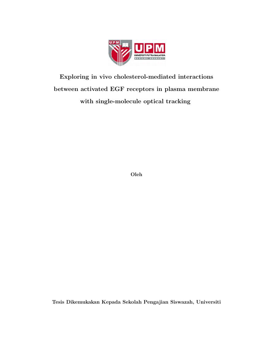 Example of Thesis Template for Universiti Putra Malaysia (Bahasa Melayu) format