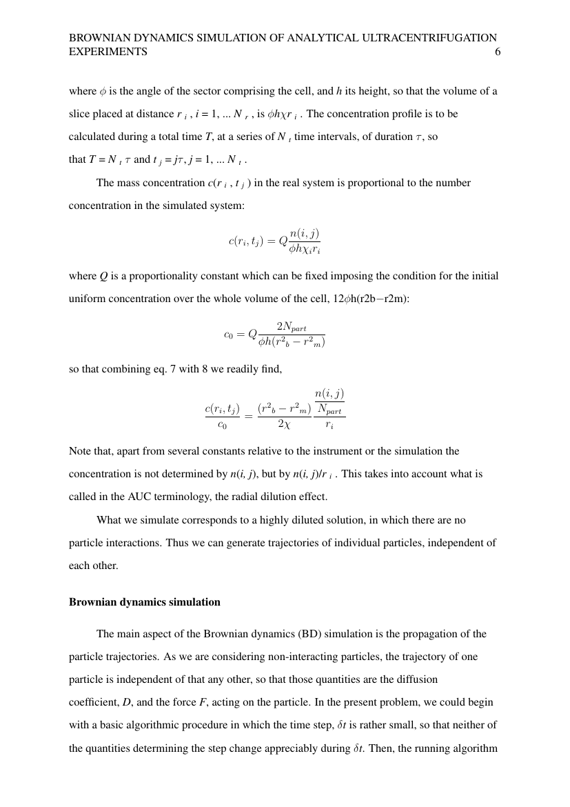 Example of Mathematics and Statistical Science (Assignment/Report) format